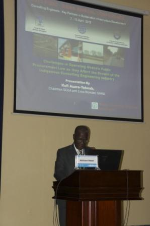 Ing Asare-yeboah delivering a paper at GAMA 2013 conference in Khartuom,Sudan