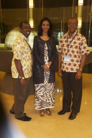 Ing Kwakwa and Quarshie with Zeinab Badawi of BBC
